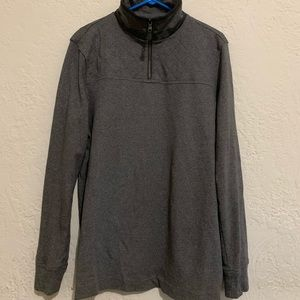 Banana Republic Men's Half Zip Pullover Gray Large